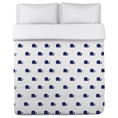 All Over Mini Whale Duvet Cover Size: Twin