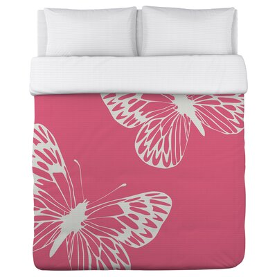 Butterfly Fleece Duvet Cover Size: Full / Queen