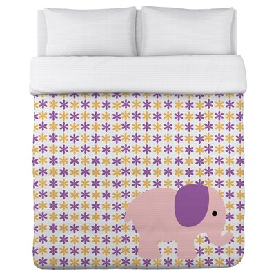 Eliana Elephant Lightweight Duvet Cover Size: Full/Queen