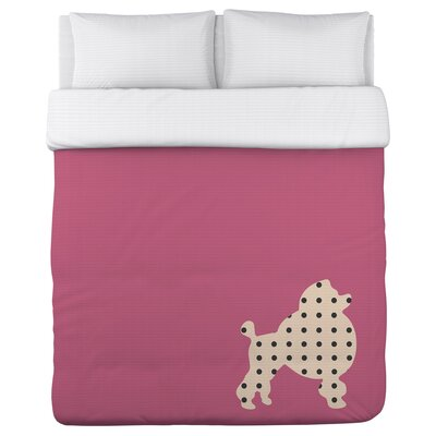 Polka Dot Poodle Duvet Cover Size: Twin