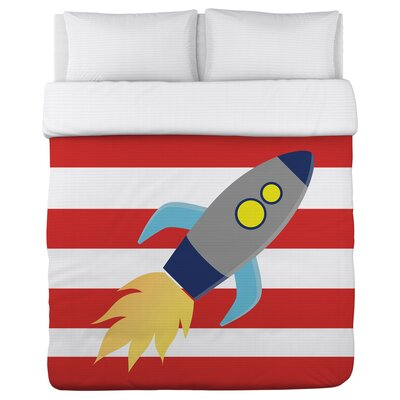 Rocketship Duvet Cover Size: Twin