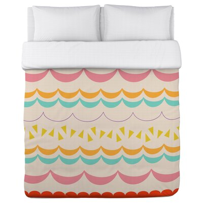 Lilly Scallops Duvet Cover Size: King
