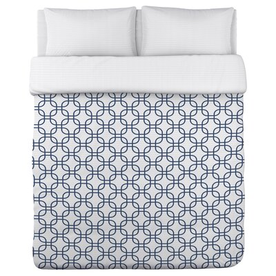Hisa 1 Geometric Fleece Duvet Cover Size: Full / Queen