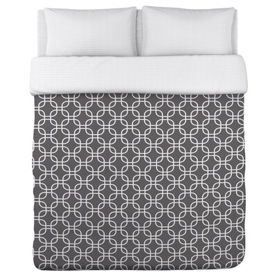Hisa 2 Geometric Fleece Duvet Cover Size: King