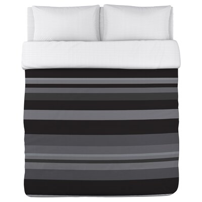 Caroline Stripes Fleece Duvet Cover Size: Full / Queen