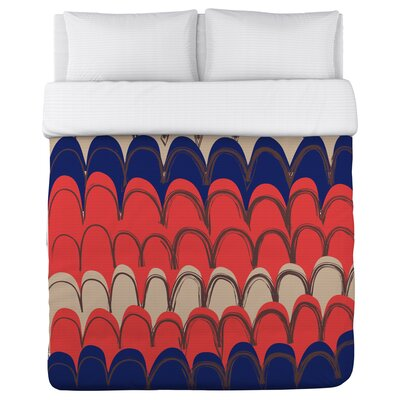 Mila Mountains Duvet Cover Size: Twin