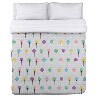 Colorful Trees Duvet Cover Size: Full / Queen