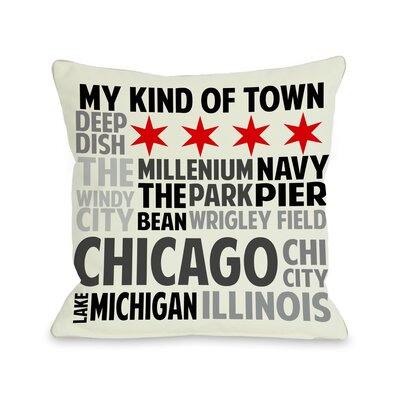 Chicago Illinois Subway Style Words Throw Pillow