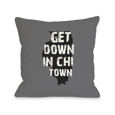 Get Down in Chi Town Throw Pillow