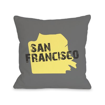 San Francisco City Silhouette Pillow