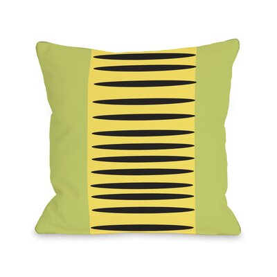Zuma Aztec Lines Throw Pillow Color: Green Yellow Black