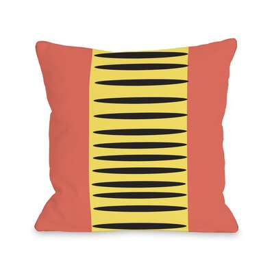 Zuma Aztec Lines Throw Pillow Color: Orange Yellow Black