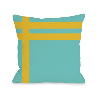 Meeting Stripes�Throw Pillow Color: Turquoise Yellow