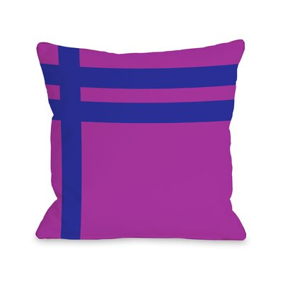Meeting Stripes�Throw Pillow Color: Fuchsia Blue