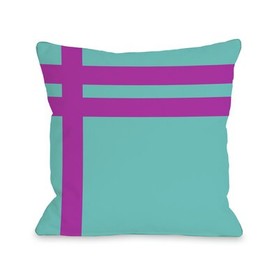 Meeting Stripes�Throw Pillow Color: Turquoise Fuchsia