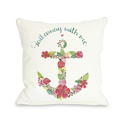 Sail Away Anchor Throw Pillow