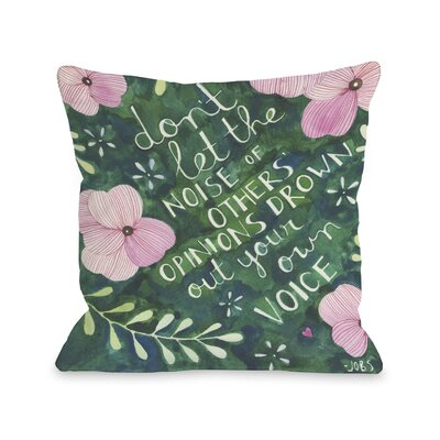 Your Own Voice Throw Pillow