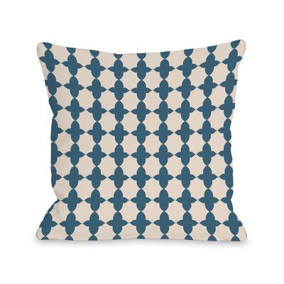 Madison Moroccan Throw Pillow Size: 18 H x 18 W x 3 D, Color: Blue