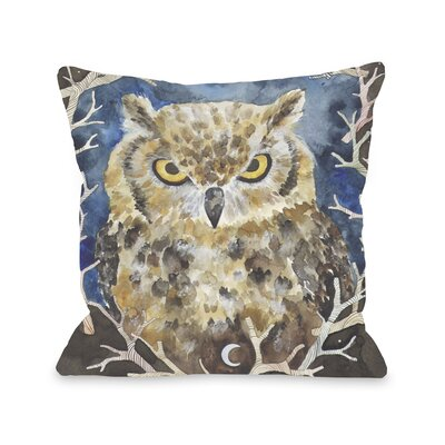 Rivers Owl Throw Pillow