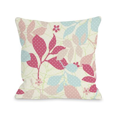 Dotties Ferns Throw Pillow Size: 18 H x 18 W