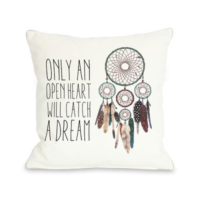 Only An Open Heart Dreamcatcher Pillow with Zipper
