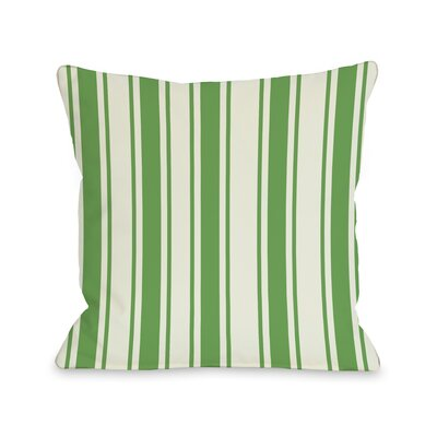 Tri-Stripes Throw Pillow Color: Green, Size: 18