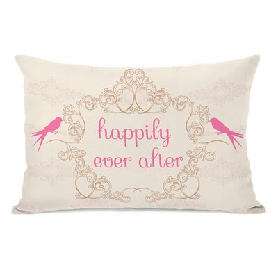 Happily Ever After Fleece Lumbar Pillow