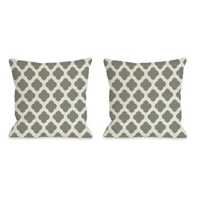 Flannigan Throw Pillow Size: 18 H x 18 W, Color: Gray