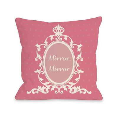 Mirror, Mirror Polka Dots�Throw Pillow Size: 18 H x 18 W