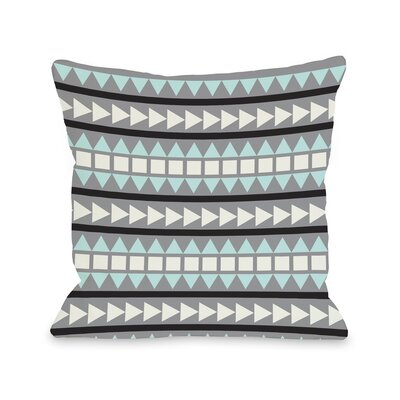 Tobi Print Geometric Throw Pillow Color: Gray Multi, Size: 18 H x 18 W