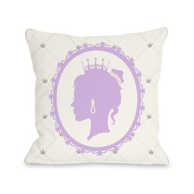 Princess Profile Throw Pillow Size: 18 H x 18 W