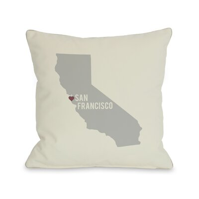 San Francisco Heart Map Pillow