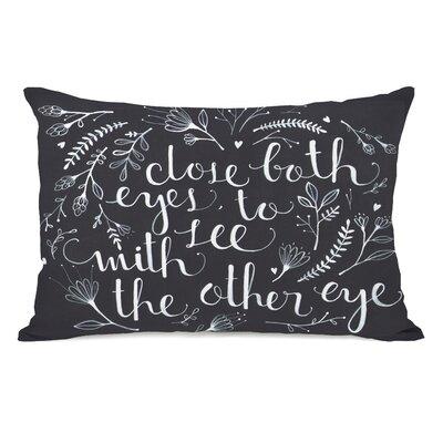 Close Both Eyes Lumbar Pillow