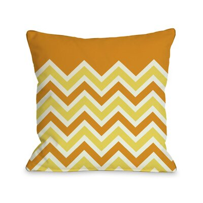Chevron Throw Pillow Size: 18 H x 18 W, Color: Candycorn