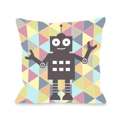 Robbie Robot Throw Pillow Size: 16 H x 16 W