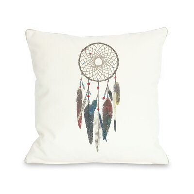 Dream Catcher Throw Pillow Size: 18 x 18