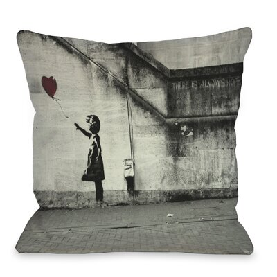 Hope Throw Pillow Size: 16 H x 16 W