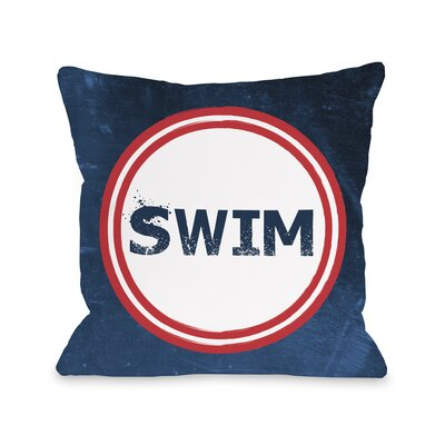 Swim Throw Pillow Size: 18 H x 18 W