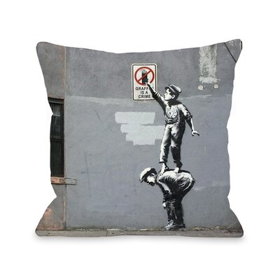 Graffiti is a Crime Throw Pillow