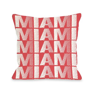 Miami Repeat Throw Pillow