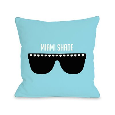Miami Shade Sunglasses Throw Pillow