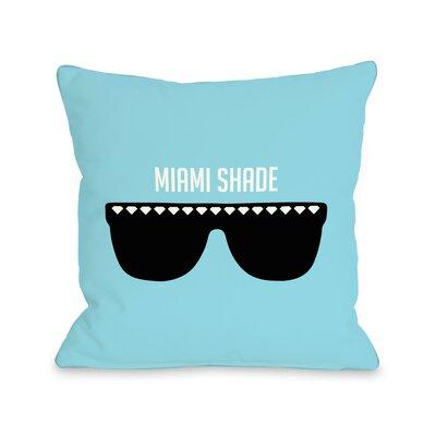 Miami Shade Sunglasses Throw Pillow