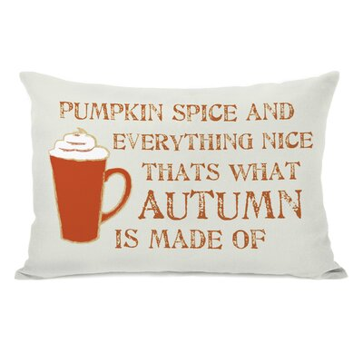 Pumpkin Spice And Everything Nice Lumbar Pillow