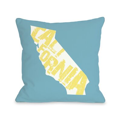 California State Silo Throw Pillow Size: 18 H x 18 W