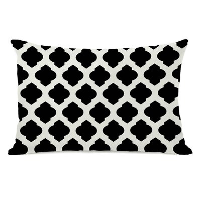 All Over Moroccan Lumbar Pillow Color: Black Ivory