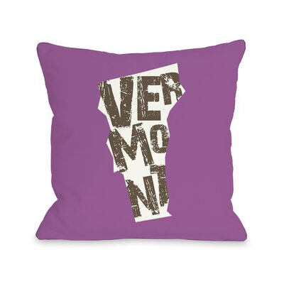 Vermont State Throw Pillow