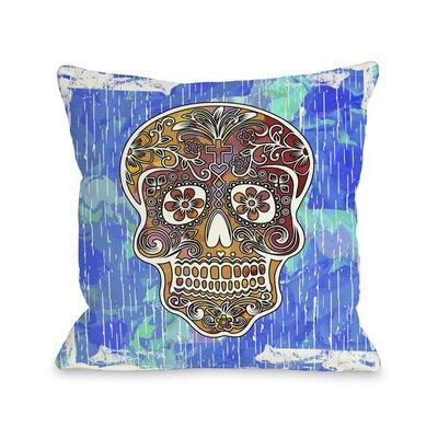 Dia De Los Muertos Skull Throw Pillow