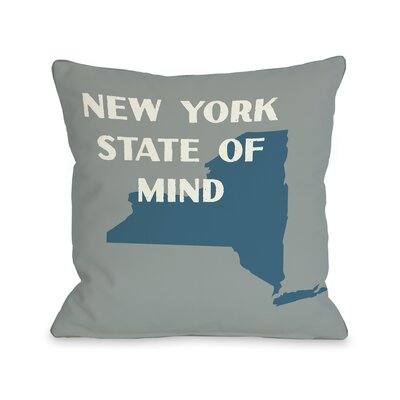 New York State of Mind Throw Pillow Size: 18 H x 18 W