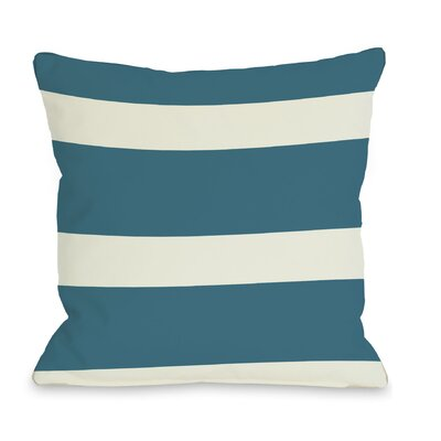 Helen Stripe Throw Pillow Color: Blue Green, Size: 16