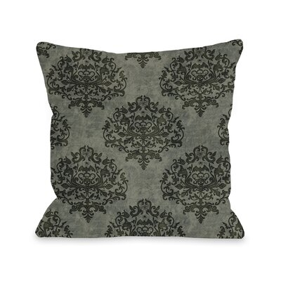 Haunted Filigree Throw Pillow Color: Dark Gray